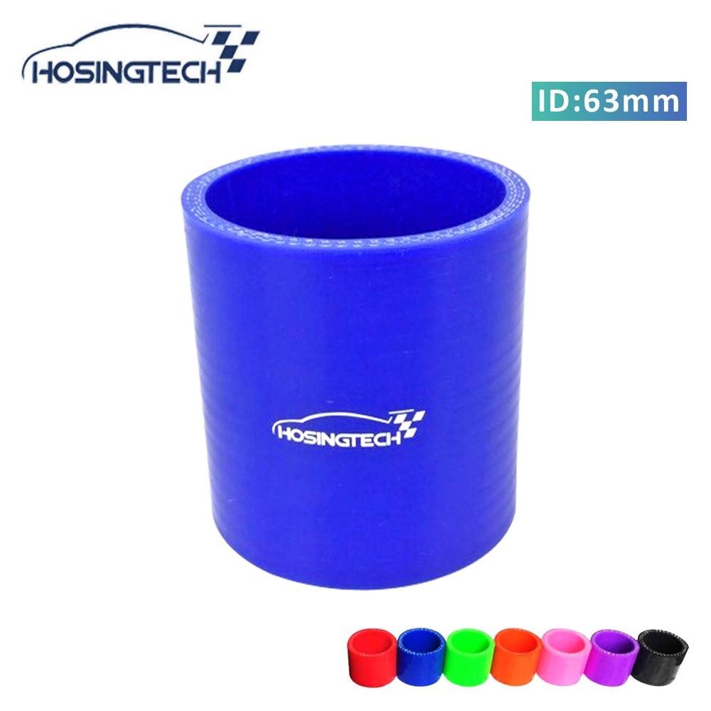 "HOSINGTECH-2.5 ""63mm Azul Silicone Mangueira Engate Intercooler Turbo Intake Cachimbo"