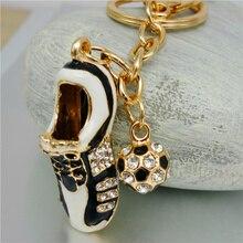 Adojewello Jewelry Men Key Chins Sport  Shoes Football  Keyring for Car Soccer  Charm Key Holder Creative Gift for Men