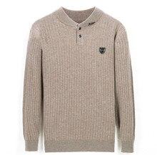 Pure chèvre cachemire épais tricot hommes smart décontracté col Oneck foncé rayé pull couleur unie S-3XL au détail en gros