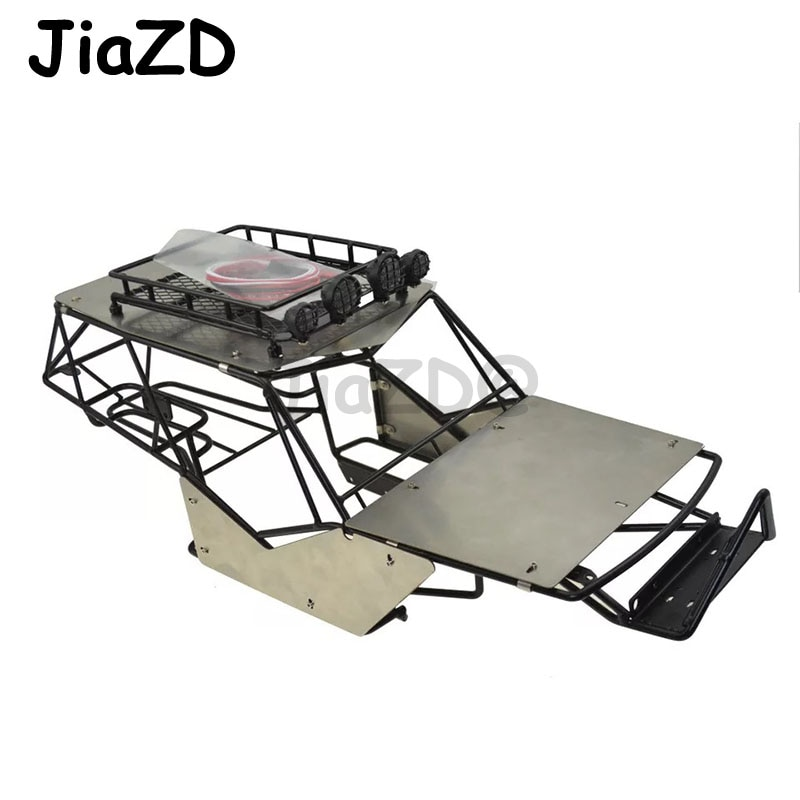 Alloy Metal Roll Cage Chassis Frame Body With roof Rack Metal Sheets for 1/10 Axial Wraith RC Car Rock DIY Crawler Racer Parts enlarge