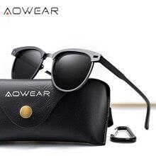 AOWEAR 2019 Luxury Polarized Sunglasses Women Brand Designer Punk Mirror Sun Glasses Fashion Lady Shades Gafas Oculos De Sol
