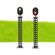 Luce di segnale Ferroviario e Costruzione di Modello in scala HO Layout del segnale stradale HA CONDOTTO le luci 12 V Led Modello