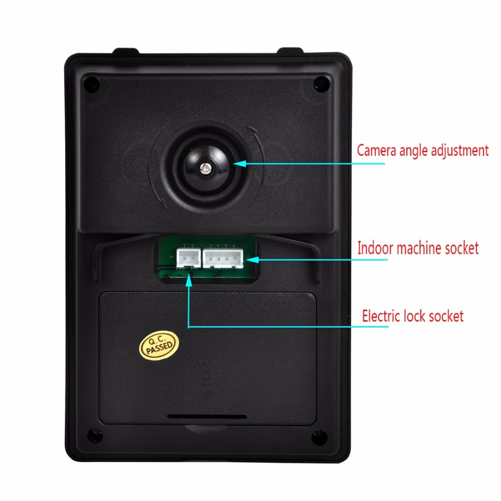 Wired Video Intercom for home with Monitor Video Doorbell Kit Waterproof Camera Night Vision Device Home Security System enlarge