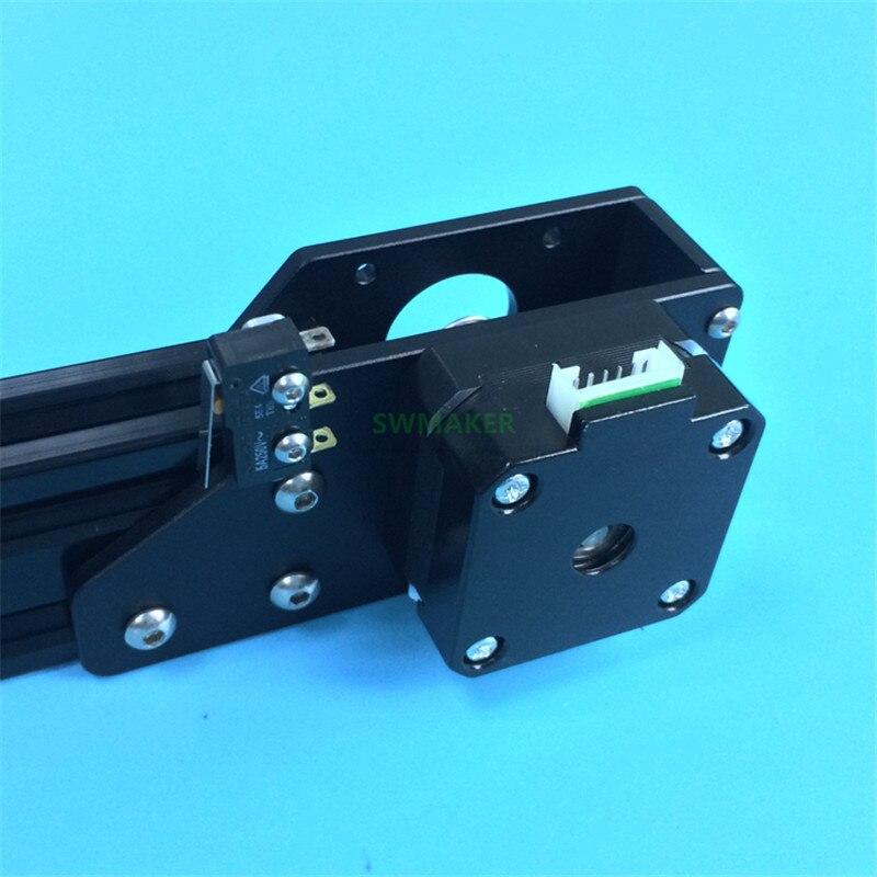 Tensor de correa ajustable de aluminio del eje Y de la mejora con el soporte del pedestal del Motor para las piezas de la impresora 3D del perfil de aluminio 2040