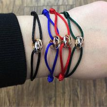 Mavis Hare Edelstahl drei farbe liebe Seil Armband trend String einstellbar Charme Armband Marken Camp Farbe für Wome