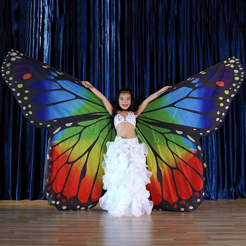 المرحلة الأداء الدعائم الاطفال Dancewear الجنية الرأس البوليستر الرقص إيزيس الجناح الشيفون فراشة أجنحة للأطفال الرقص الشرقي