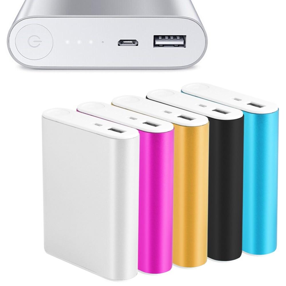 5V 2.1A batería externa de aluminio Kit de caja 3X 18650 funda cargadora de batería para teléfono móvil