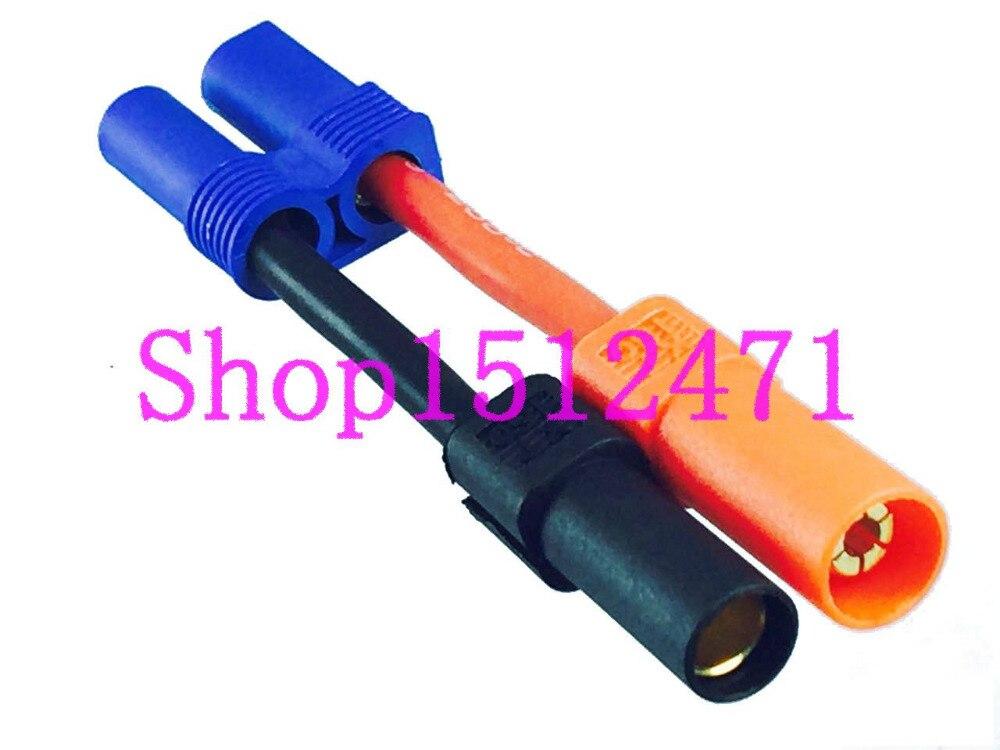 1pce EC5 hembra a XT150 bala macho adaptador 10AWG 5CM cable para Turnigy Zippy