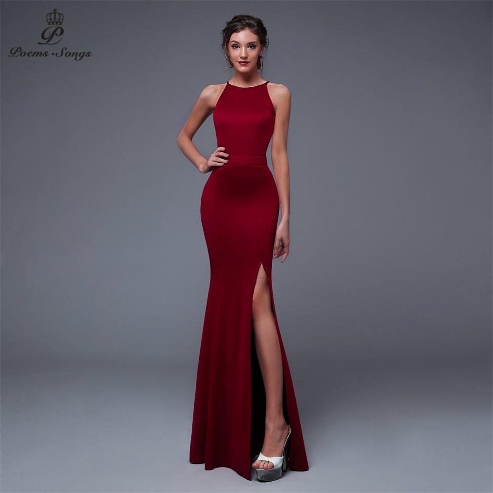 Poemas canções ano novo elegante encantador lado preto aberto baile de formatura formal vestido de festa elegante vintage robe longue