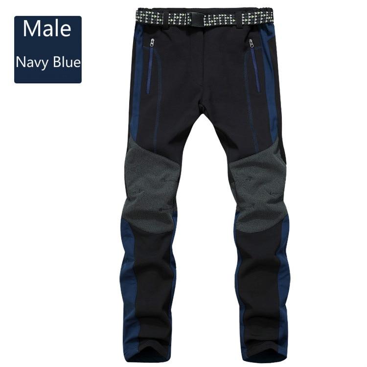 New men and women grab velvet mountaineering pants outdoor wind proof waterproof soft shell ski pants
