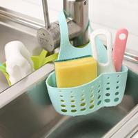 Adjustable Sink Storage Basket Kitchen Organizer Tools Snap Type Tank Hanging Bag Kitchen Shelf Cradle Rack Sponge Drain Holder