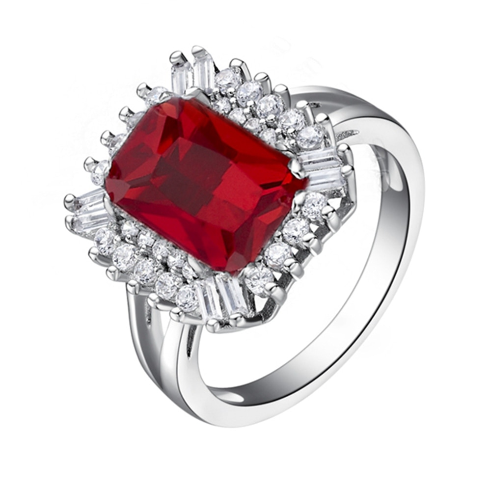 Nueva pareja 925 anillo Vashiria moda bonita joyería chapada en oro 925 corona Imperial romántica CZ bonito anillo de boda J550