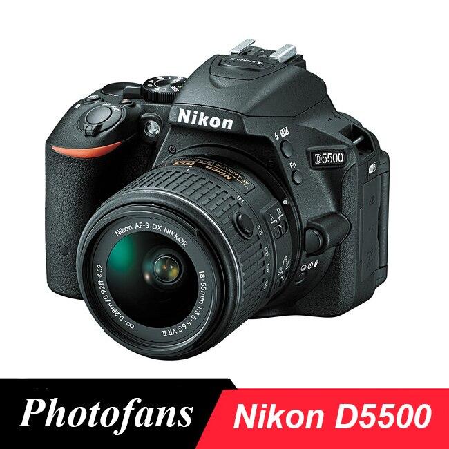 Nikon D5500 DSLR Kamera mit 18-55mm Objektiv 24,2 MP Video Variabler Winkel Touchscreen, wi-Fi (Marke Neue)