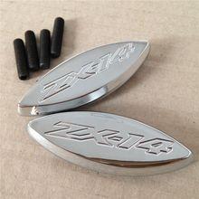 Plaques de Base pour miroir de moto   Pour Kawasaki Ninja 2006/ZX14 2014/ZX14R, Chrome-