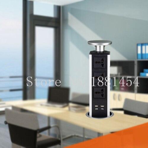 Enchufe emergente/de mesa de trabajo/oculto/enchufe de alimentación Universal/Enchufe europeo/enchufe de escritorio de oficina de carga USB/enchufe de cocina 10 unids/set