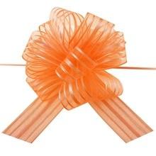 5 teile/los Große Organza Ziehen Bogen Band für Handwerk, Hochzeit Dekoration, orange Geschenk Verpackung 50mm LH07