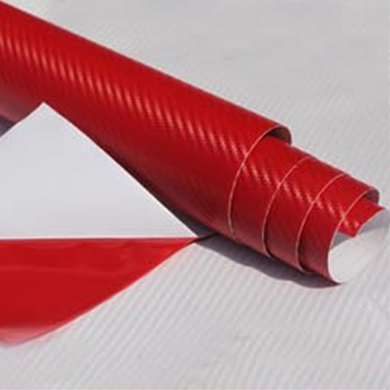 DIY 30x127 3D פחמן סיבי מדבקות ויניל סרט לעטוף רול דבק רכב מדבקה עמיד למים גיליון 3D מרקם PVC רכב מדבקות 9 צבע