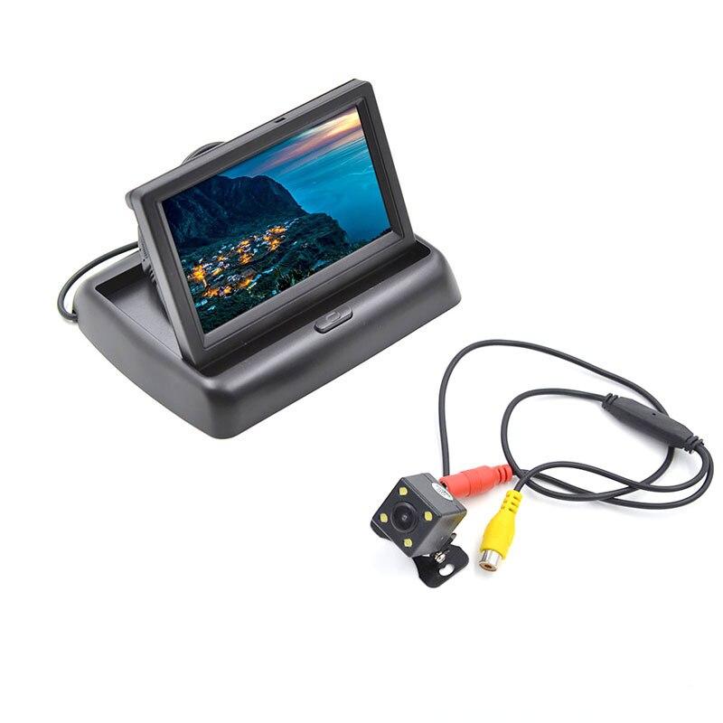"""4.3 """"monitor de backup da visão traseira do carro do lcd com jogo livre da câmera da visão noturna do estacionamento"""