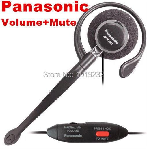 Envío Gratis P a n a s o n i c KX-TCA93 Clip-on volumen de la cabeza y silenciar 2,5mm enchufe 2,5mm auriculares con micrófono de teléfono