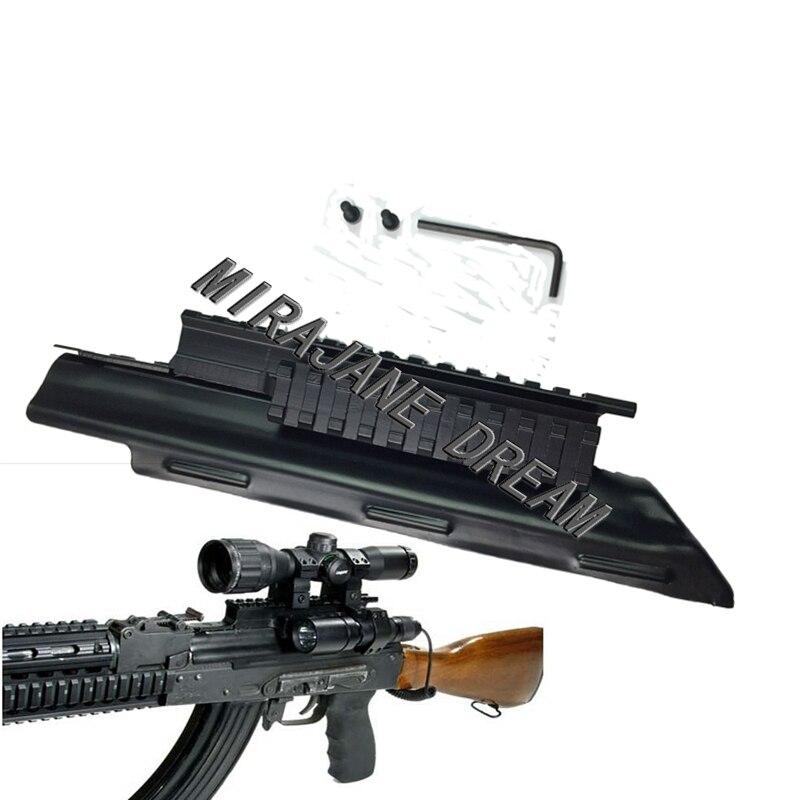Tactical AK Receiver Triple Picatinny Weaver Rail Top Mount System Cover 47 74 AK Series Tri-Rail Hunting