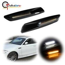 Gtinthebox Carbon Faser Stil Bernstein/Weiß Switch Voll FÜHRTE Seite Marker Licht Kit Für BMW 1 3 5 Serie x1, w/BMW F10 Stil