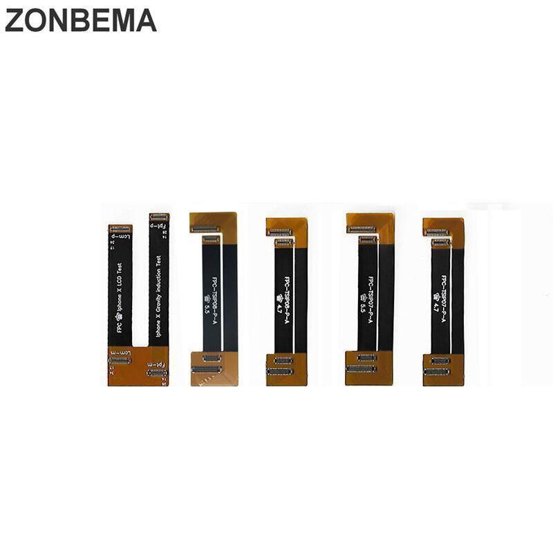 ZONBEMA ЖК-дисплей тест сенсорный экран расширение гибкий кабель для тестера для iPhone X 5 5S SE 5C 6 6S 7 8 Plus