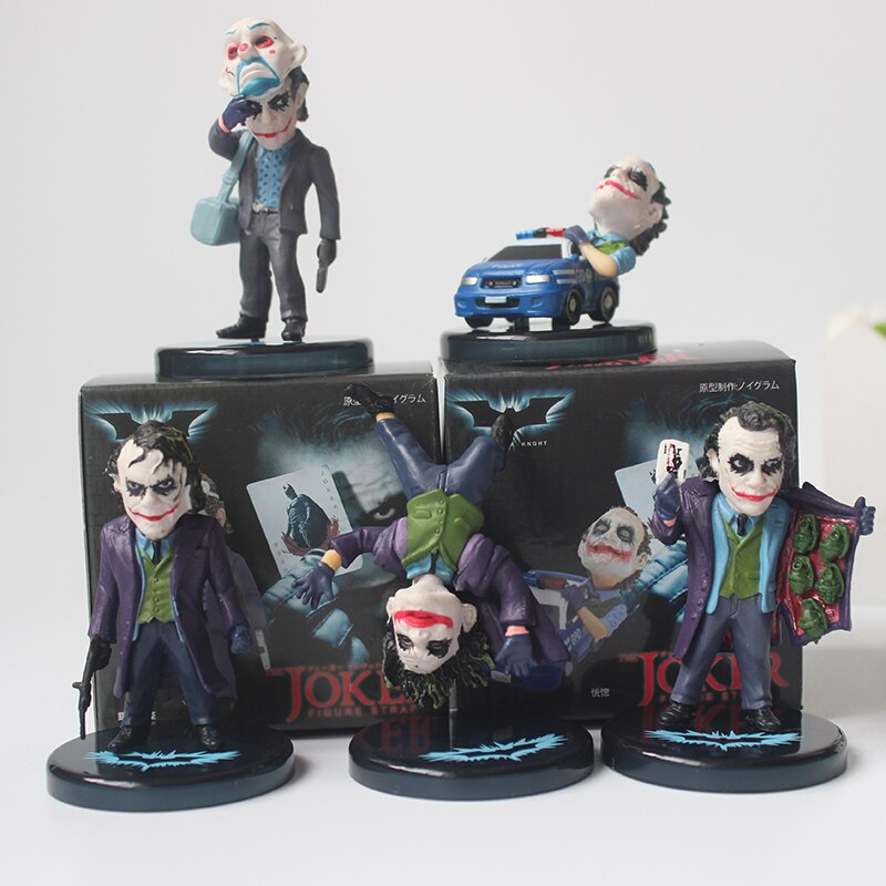 5 teile/satz Batman The Dark Knight Figuren Die Joker Mini PVC puppe Sammeln Modell Spielzeug 5CM
