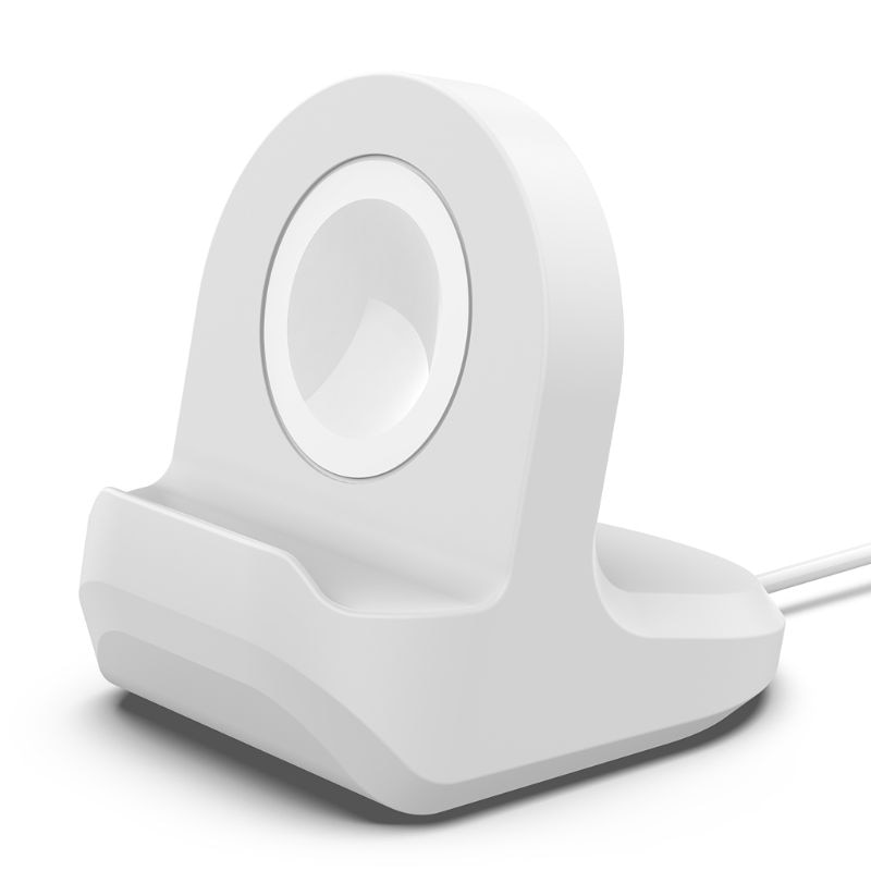 Silicone Charge Stand Holder Station Dock for Apple Watch Series 1/2/3 42mm 38mm Charger Cable