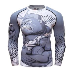 New Running Shirt Men Tight Sport T Shirt Gym Shirt Men Compression Tight Fitness Top Bodybuilding Tshirt Rashgard Soccer Jersey