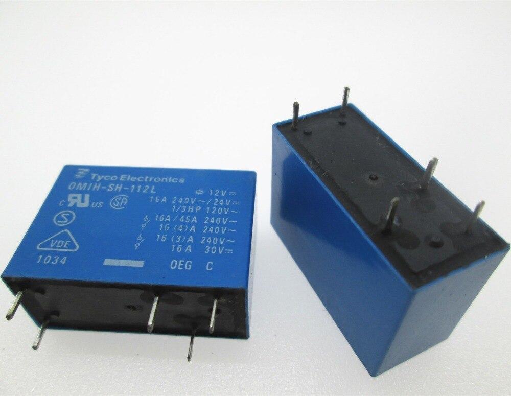 جديد 12 فولت التتابع OMIH-SH-112L-12VDC OMIHSH112L OMIH-SH-112L 12vdc 12vdc dc12v 12 فولت 16a 240VAC dip6 10 قطعة/الوحدة