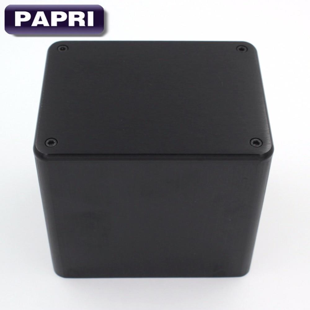 PAPRI 1 шт. 130*100*116 мм черный алюминиевый Серебристый Аудио DIY трансформатор защитный корпус для Hi-Fi усилитель звуковой трубки