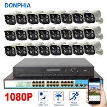 1080 P 24 ADET Kamera Gözetleme Sistemi POE 24ch NVR Kiti + PoE Anahtarı + 2MP IP Kamera POE Su Geçirmez güvenlik Sistemi CCTV Sistemi