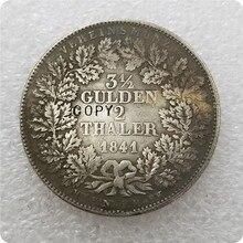 Pièce de monnaie Thaler 3-1841 des états allemands   2 Gulden - Ludwig I copieur, pièce de monnaie, 1/2
