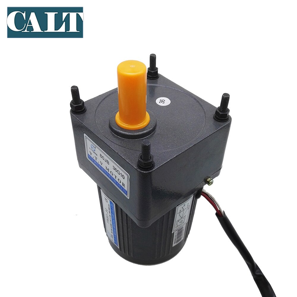 40W VTV YN80-40 110V AC small 3 wires gear motor  1:30 reduction ratio ouput speed 50rpm single phase motor enlarge