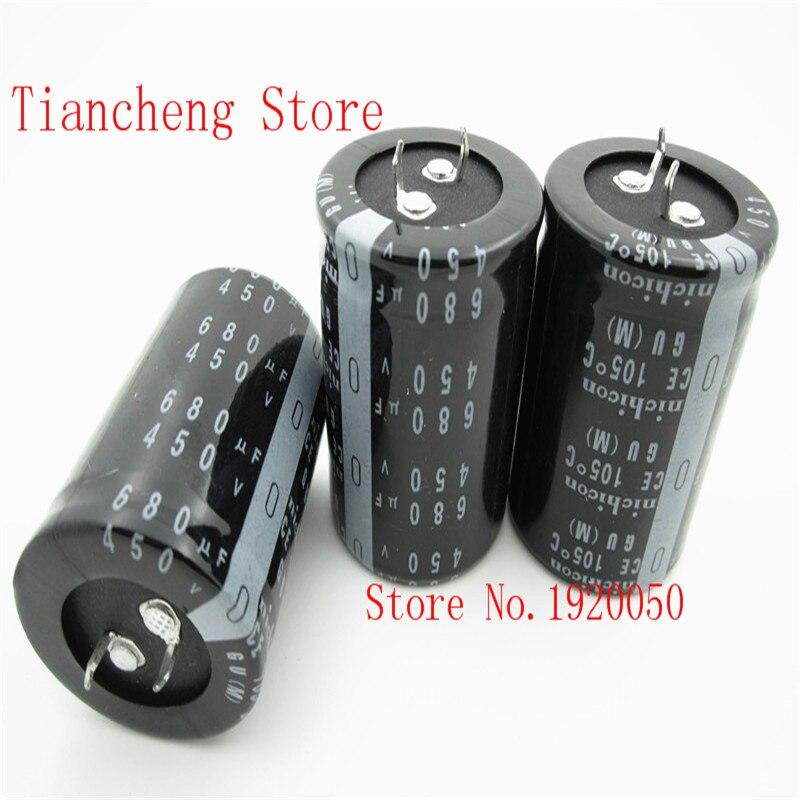 stock hard feet electrolytic capacitor 450v680uf 680uf450v volume: 35x50