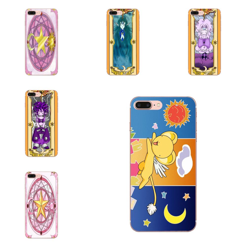 Luxury High-End Sakura Card Captor Clow Cards For Samsung Galaxy Note 5 8 9 S3 S4 S5 S6 S7 S8 S9 S10 mini Edge Plus Lite