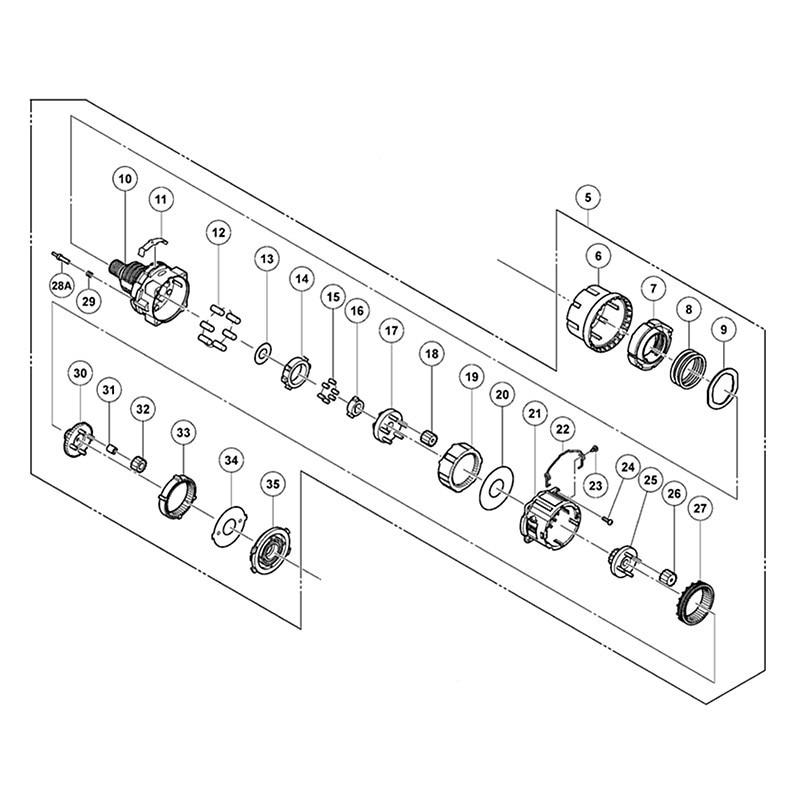 Engranaje original ASSY para Hitachi 334430 DS18DSDL DS18DL2 DS14DSDL DS14DL2, taladro conductor sin cuerda, piezas