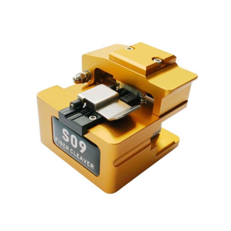 جهاز تقطيع الألياف البصرية عالية الدقة S09 مع صندوق ألياف النفايات FTTH قاطع الألياف أداة الألياف ل AI-8 و 9 و S9