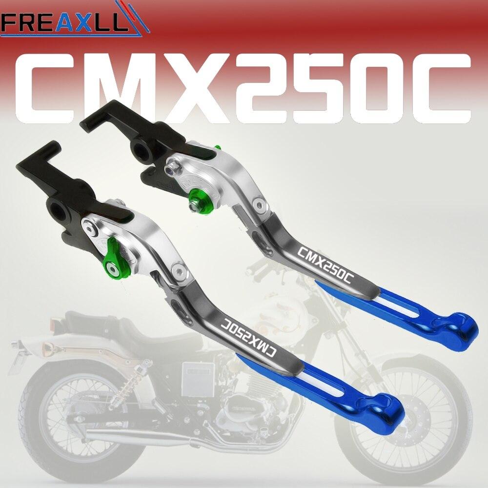 Acessórios da motocicleta Para Honda REBEL CMX250C 1987 2003 2004 2005 2006 2007 2008 2009 2010 2011 Alavancas de freio de Embreagem Extensíveis