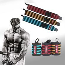 60 cm bracelet de musculation bracelet de musculation entraînement sangles de poignet enveloppes Gym Wrap poignet rayé protecteur pour hommes femmes