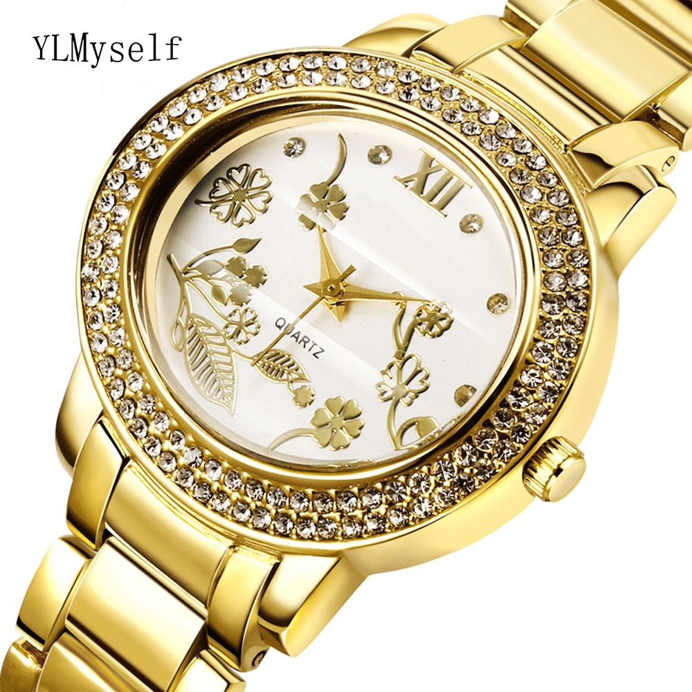 2021 Big Women Rhinestone Fashion Watches Lady Dress Watch Trendy Ladies Crystal Quartz Clocks Luxury Brand Bracelet Wristwatch enlarge