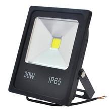 Réflecteur de projecteur Led 10w 20W 30W 50W 12v noir dissipateur de chaleur étanche extérieur C0B projecteur luminaire LED lampadaire couleur