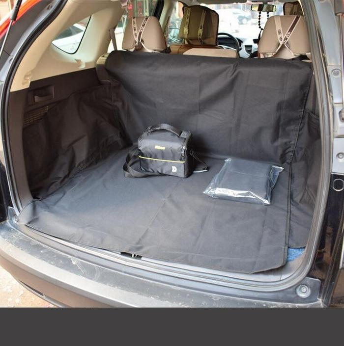 Rete car pet/perro/gato asiento del maletero cubre tapicería Universal impermeable anti-polvo negro oxford tela para SUV Wh