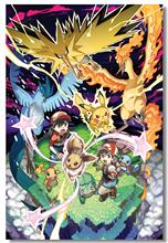 Custom Canvas Art Pokemon Poster Pokemon Wall Stickers Anime Wallpapers Pokemon Go Sticker Mural Kids Home Decoration #PN#352#