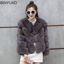 BINYUXD 2019 Mink Coats Women Winter New Fashion Pink FAUX Fur Coat Elegant Thick Warm Outerwear Fake Fur Jacket Chaquetas Mujer