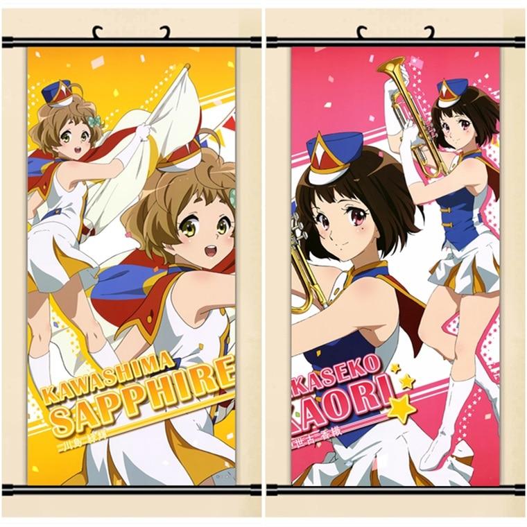 ¡45X95 CM sonido! ¡Hibike! Euphonio Kawashima Kaori lotita dibujos animados anime arte pared cuadro mural tela en rollo lienzo pintura cartel