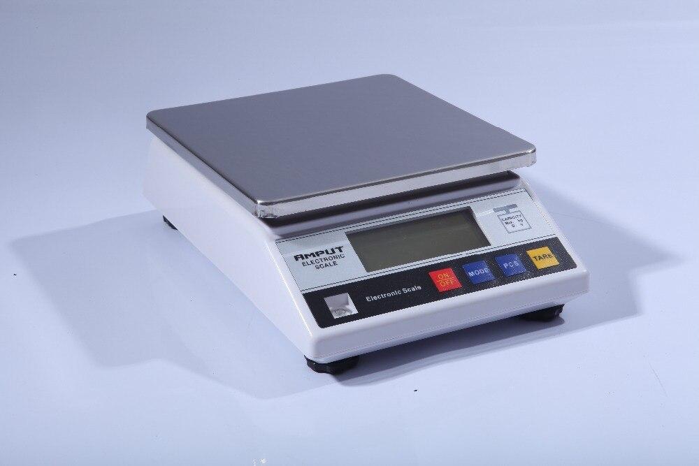 Balanza electrónica de precisión Digital para laboratorio, balanza Industrial de 6kg x 0,1g, balanza de mesa con contador