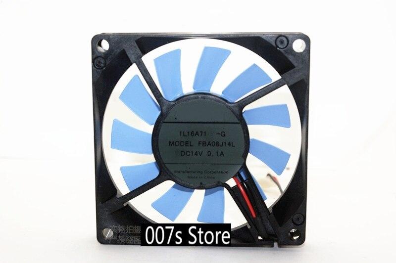 Nuevo radiador de refrigeración refrigerador ventilador para NMB-MAT 8015 Minebea-Matsushita Motor Corporation FBA08J14L DC14V 0.1A 80*80*15mm 10CM ()