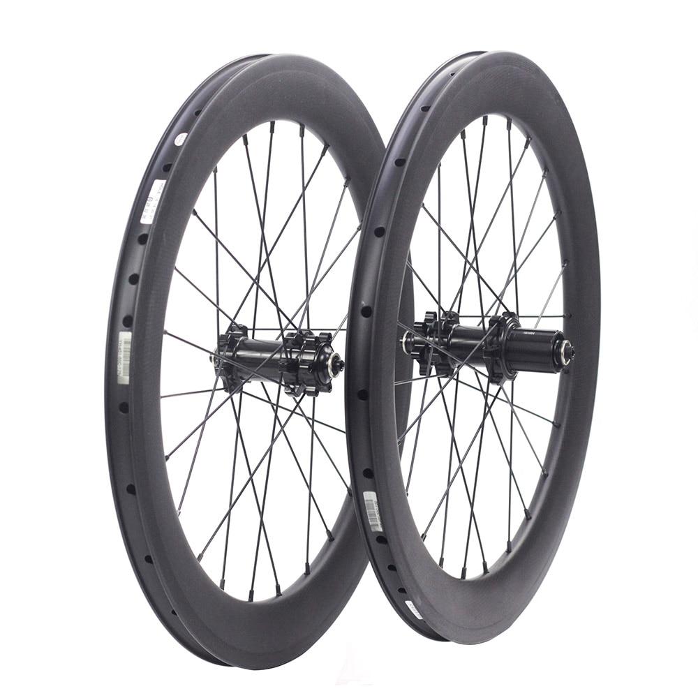 "Silverock Carbon Wheels 451 20"" 1 1/8"" Disc Brake 50mm Clincher For JAVA Minivelo Folding Bike Custom 20"" Bicycle Wheelset"