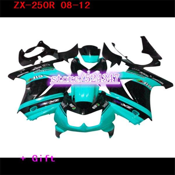Fábrica de carreras de carretera carenados kit para Kawasaki 2008 de 2010 de 2014 Ninja 250 EX250 08 11 14 ZX 250R kits de carenado de inyección